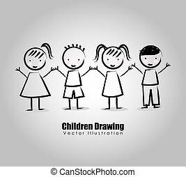 children drawing design