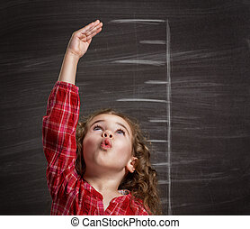 children dream - beauty child at the blackboard