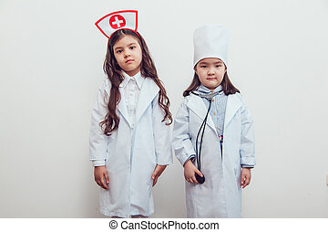 children dressed as a doctor