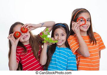 children eating healthy food -  children eating healthy diet