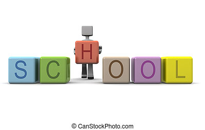Children education concept - Student placing an alphabet...