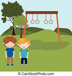 children entertainment , vector illustration
