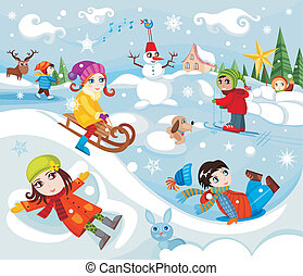 children - vector illustration of a children