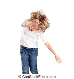 children excited kid epression with winner gesture