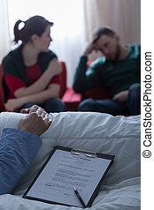 Children expecting inheritance money - Horizontal view of...