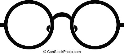 Children eyeglasses icon, simple style.
