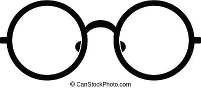 Children eyeglasses icon, simple style.