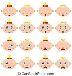 Children faces.