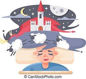 Children fairy tale dream
