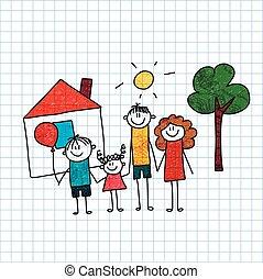 children., family., felice, padre, madre