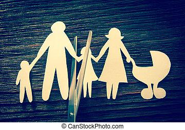 children., family., sezione, divorce., disintegrazione