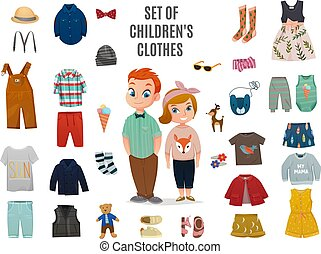 Children Fashion Big Icon Set