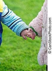 Children Friendship - Two Children holding each other's ...