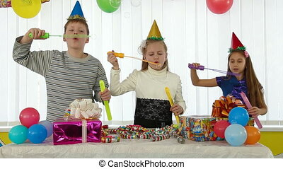 Children fun at birthday party
