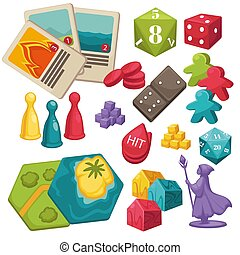 Children games and interactive toys set, boardgames ...