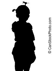 children girl Silhouette