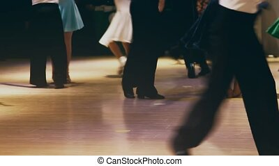 children go on stage dancing crowd ballroom dancing feet...