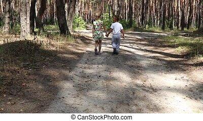 Children go on the road