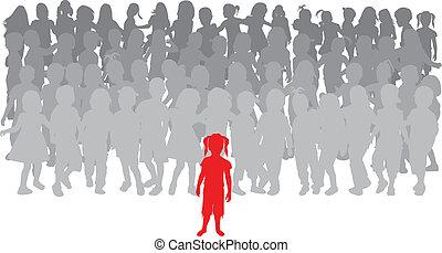children., -, gruppo, condottiero