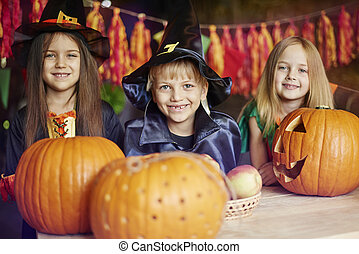 Children have great fun of carving the pumpkins