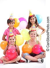 Children having a party