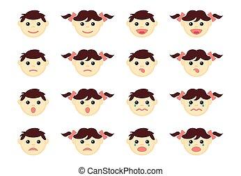 Children head icons