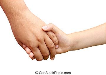 Children Holding Hands - Children holding hands as a symbol...