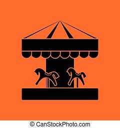Children horse carousel icon