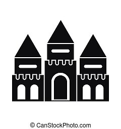 Children house castle icon, simple style