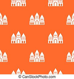 Children house castle pattern seamless - Children house...