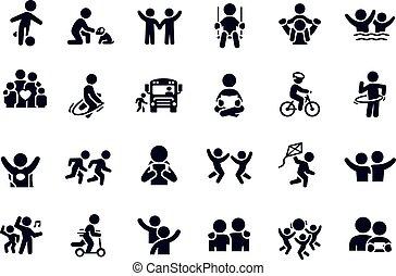 Children Icons vector design