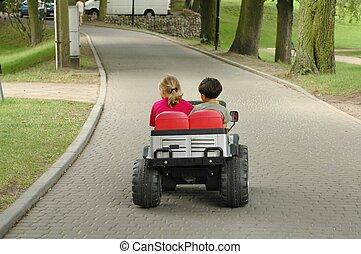 Children in a car