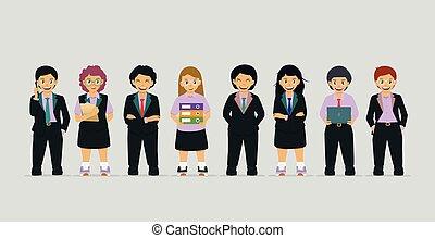 Children in business suit