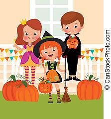 Children in celebration of Hallowee