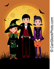 Children in costume Halloween