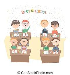 Children in the classroom.