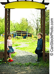 children in the gate