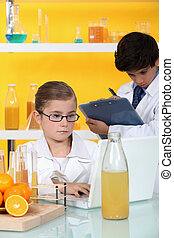 Children in the laboratory