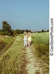 children in the nature
