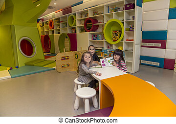 Children in the playroom
