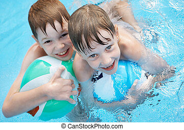Children in the pool.
