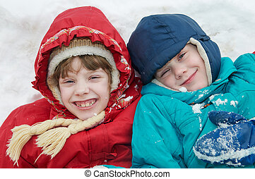 Children in winter