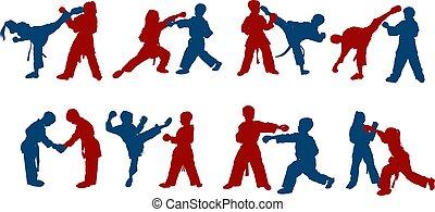 children karate sparring