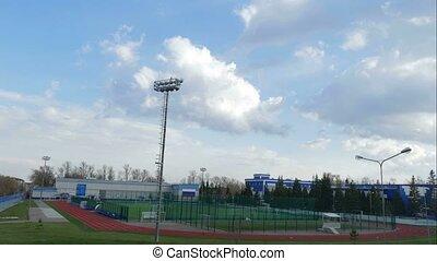 children kids playing sport soccer time lapse training stadium