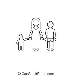 Children line icon