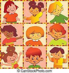 children., lycklig