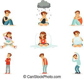 Children negative emotions, expression of different moods