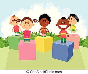 Children of different nationalities