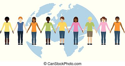 children of the earth of different origin freedom concept