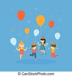 Children on party.